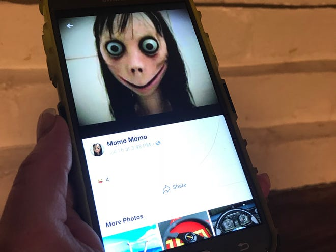 """The avatar of """"Momo"""" as seen on Facebook."""