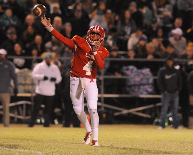 Albany junior Ben West threw five TD passes and returned a late fumble for a score to help the Lions advance to the state semifinals.