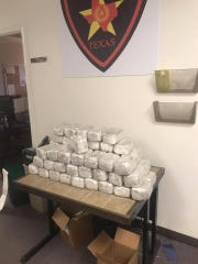 The Anson Police Department seized 68-plus pounds of marijuana during a traffic stop on Sunday.