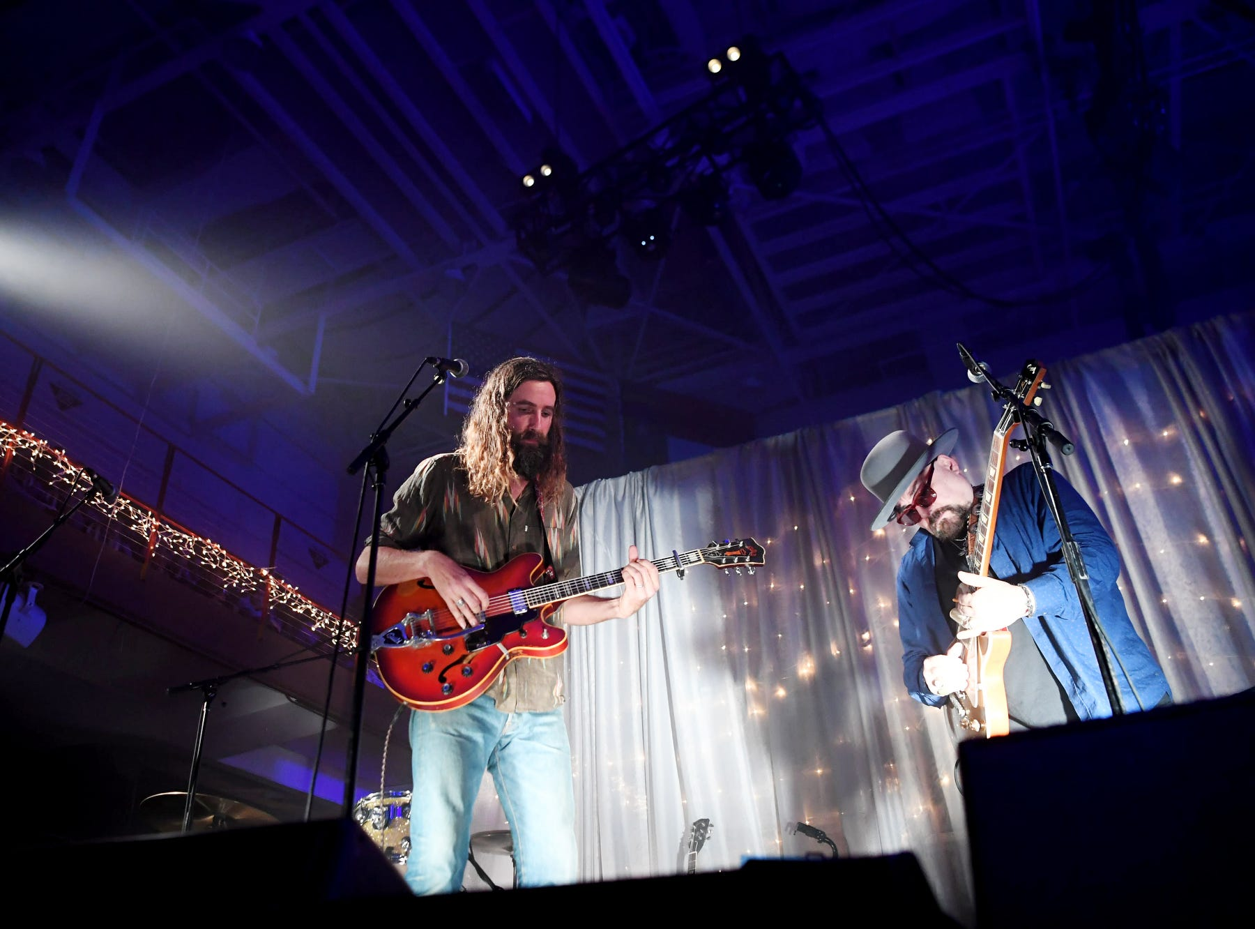 Tyler Ramsey and Jimmy Vivino perform during the second night of Christmas Jam Dec. 8, 2018.