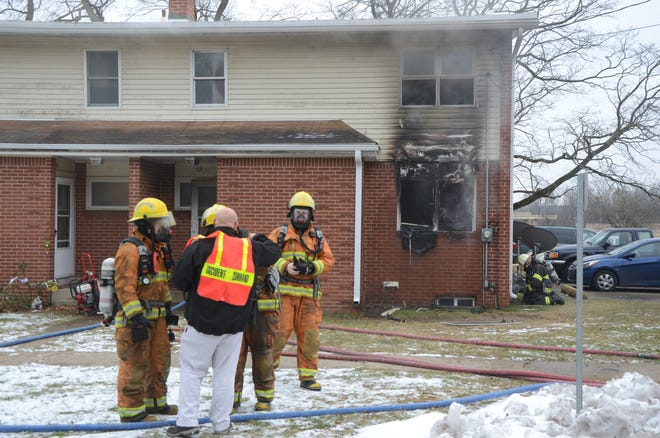 Fire destroyed a two-story townhome on Barberry Drive in Springfield on Monday, Dec. 10, 2018.
