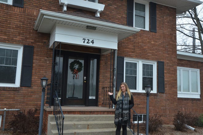 Community Development Specialist Mackenzie Scholte talks about the building that the city helped to renovate for an apartment space through its Rental Rehabilitation Program.