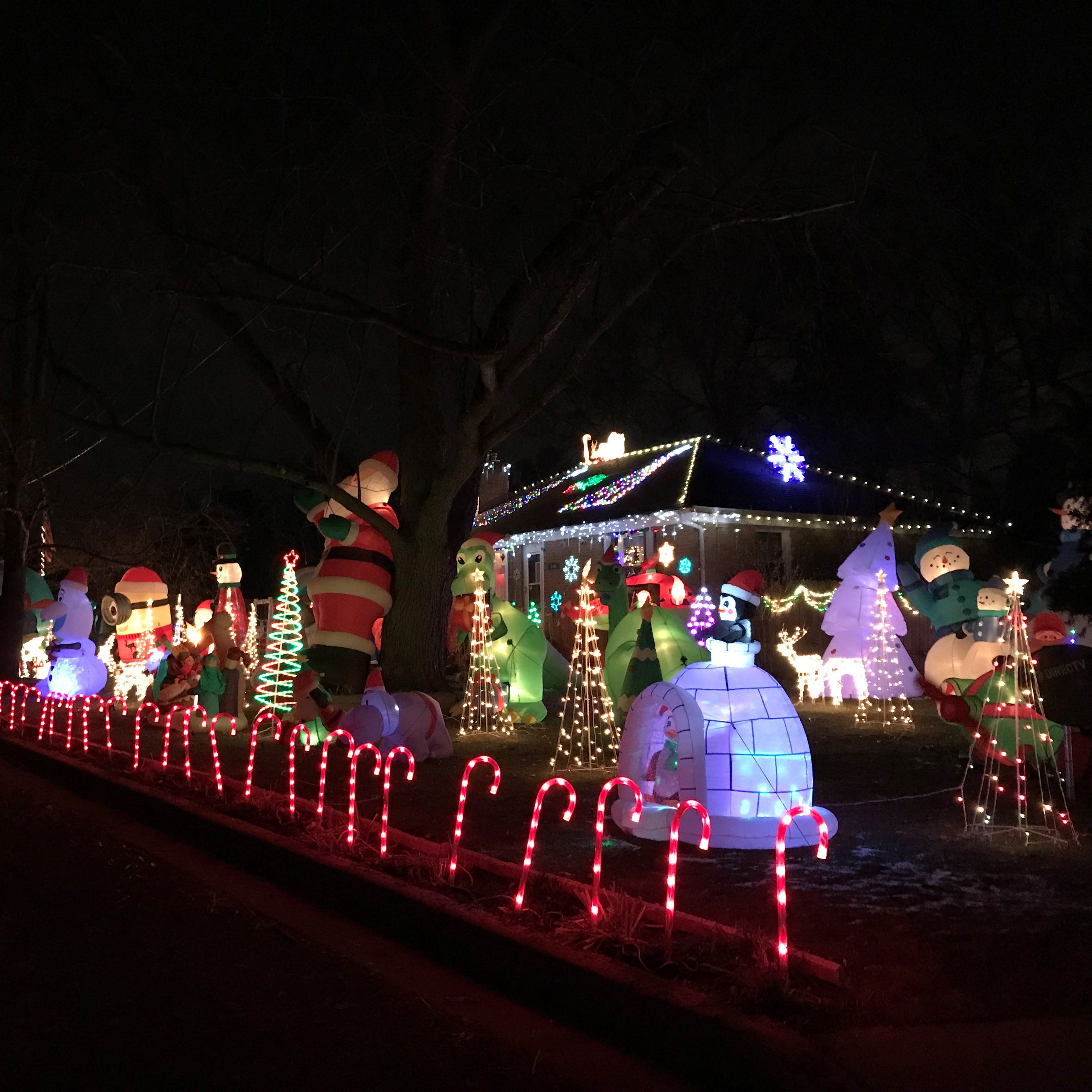 Where the Christmas lights are bright and the inflatables are plentiful