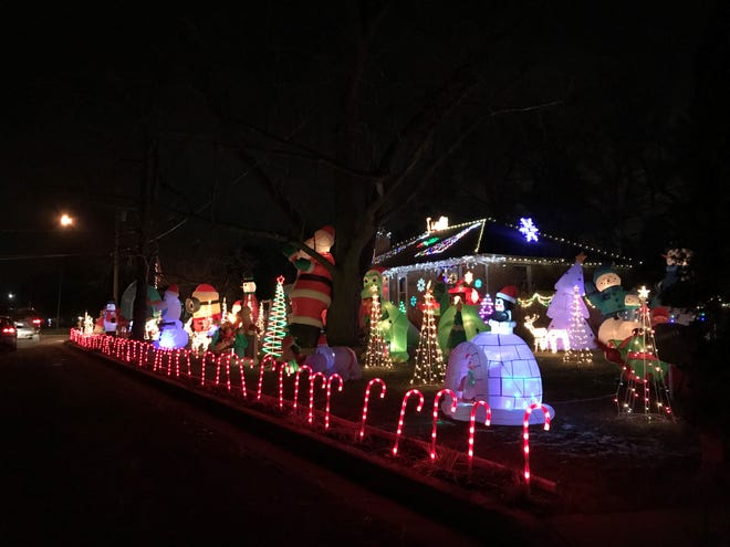 Christmas decorations at 116 19th Street North in Battle Creek.