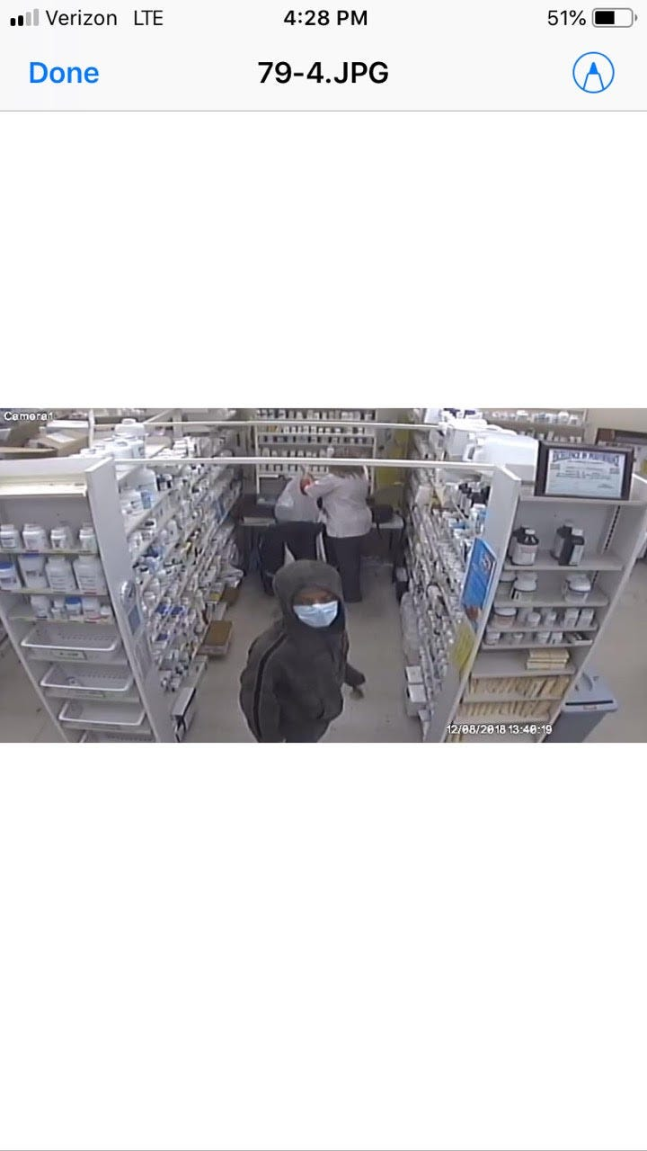 Drug Mart Robbery Suspect