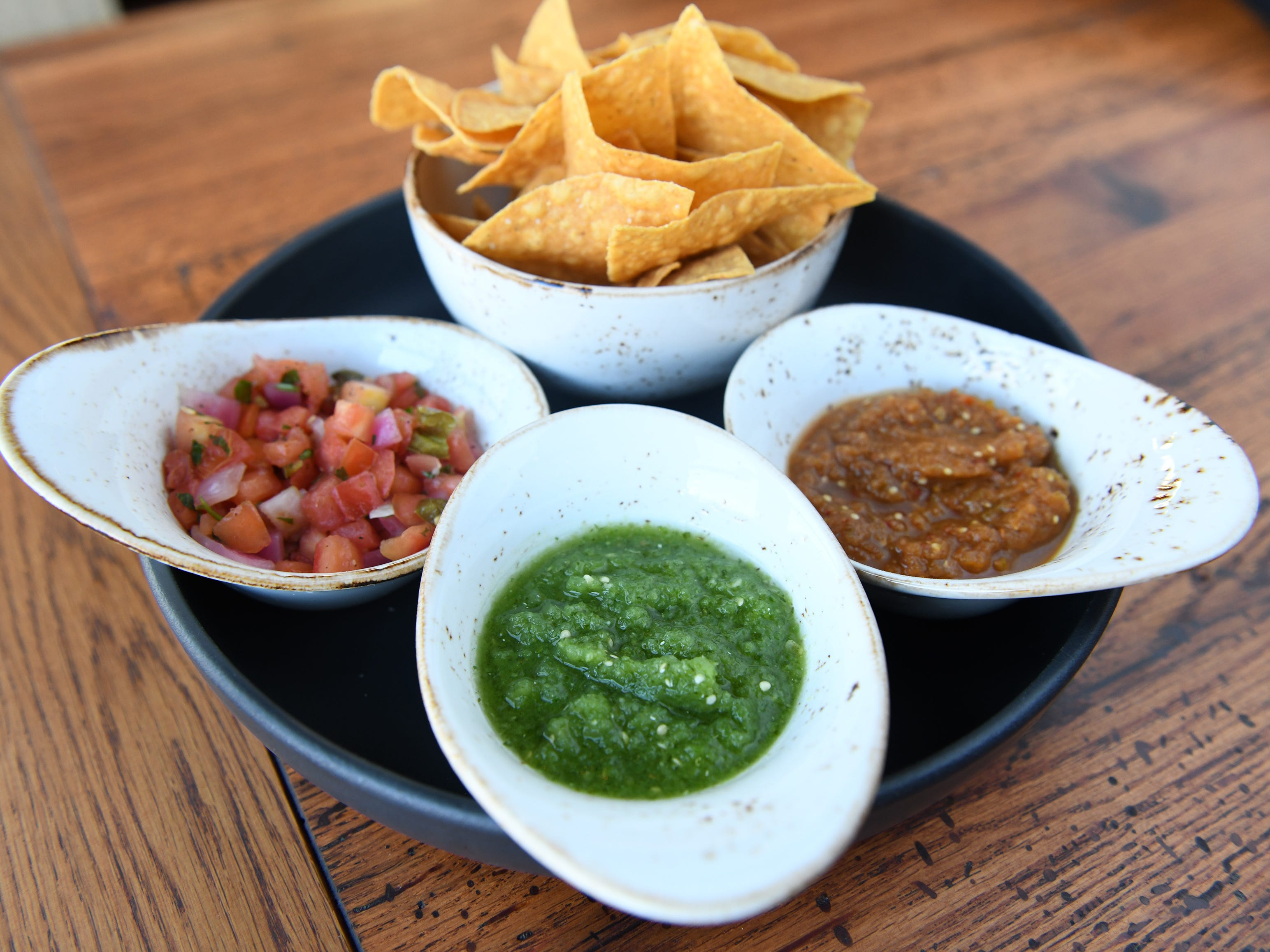 A Salsa Trio is displayed at Central Taco And Tequila in Westmont.