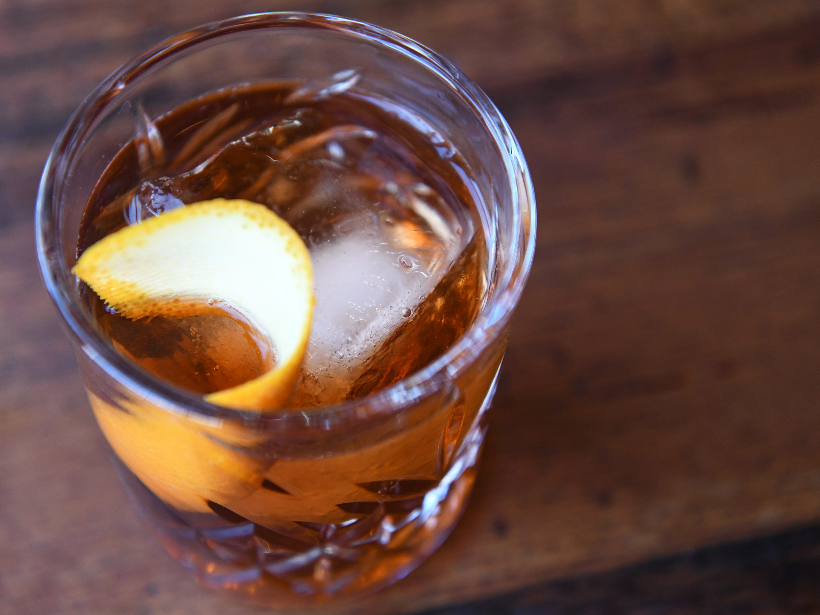 An Oaxaca Old Fashioned is displayed at Central Taco And Tequila in Westmont.