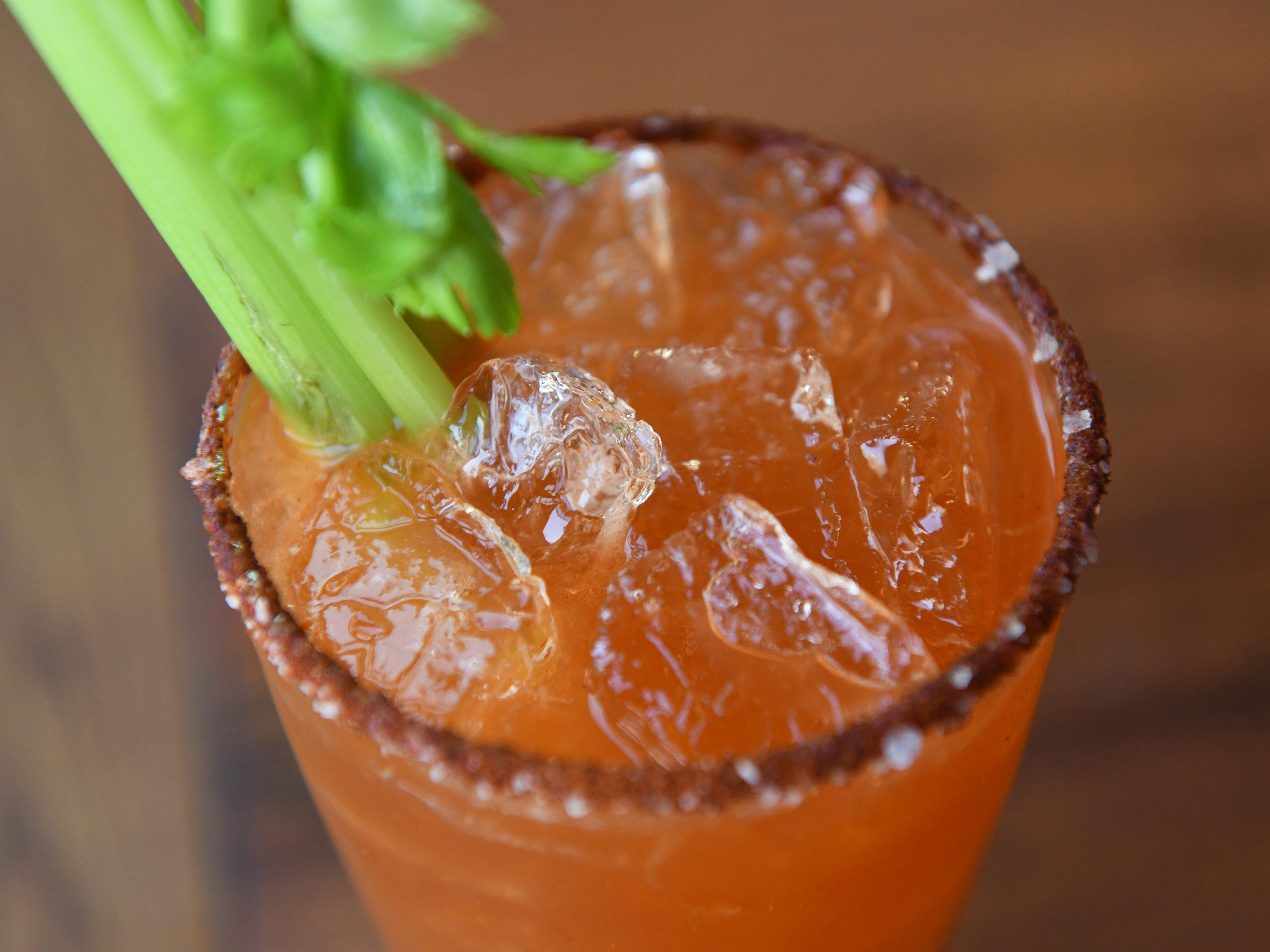 A michelada is displayed at Central Taco And Tequila in Westmont.