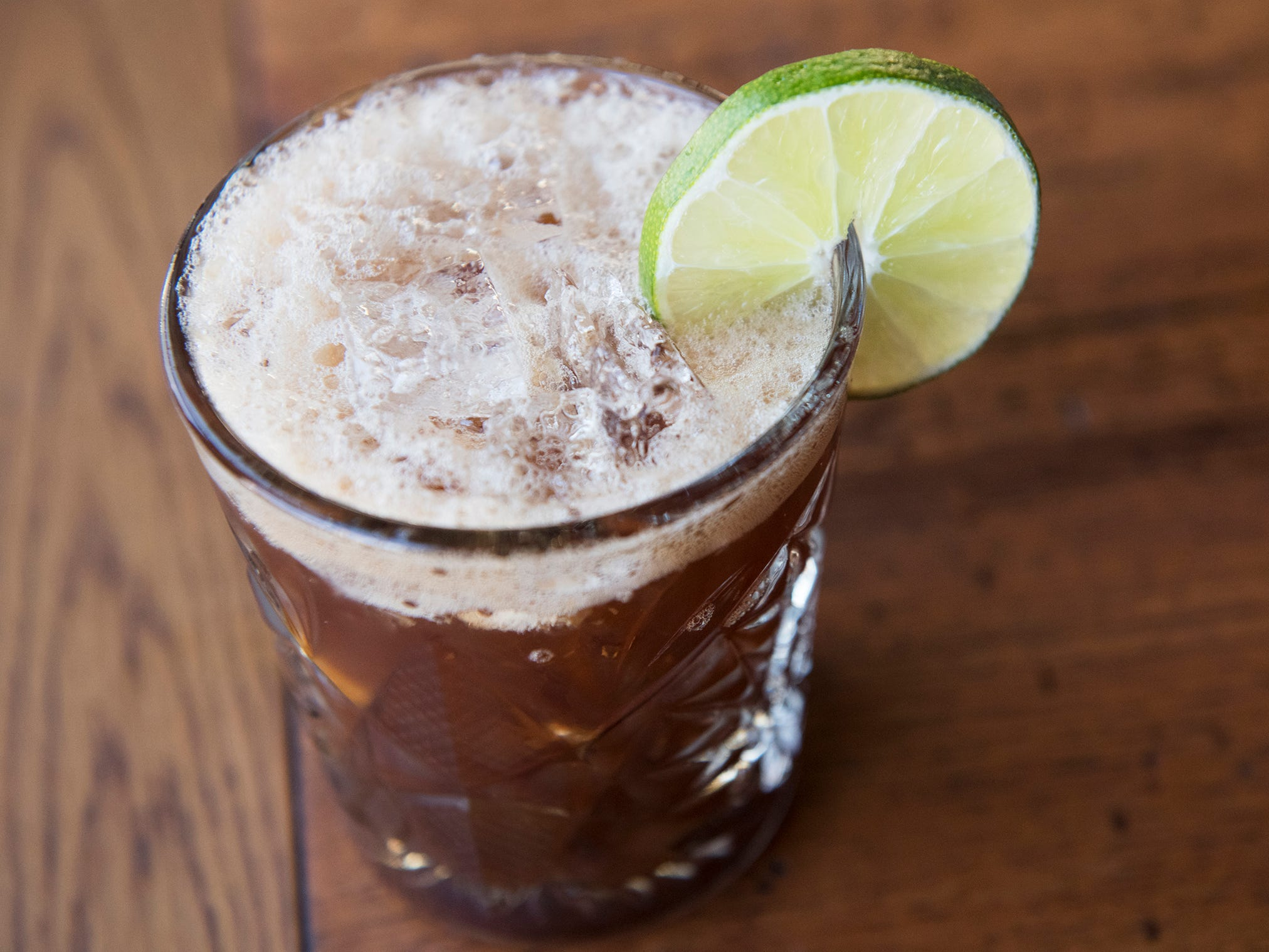 A cold brew margarita is displayed at Central Taco And Tequila in Westmont.