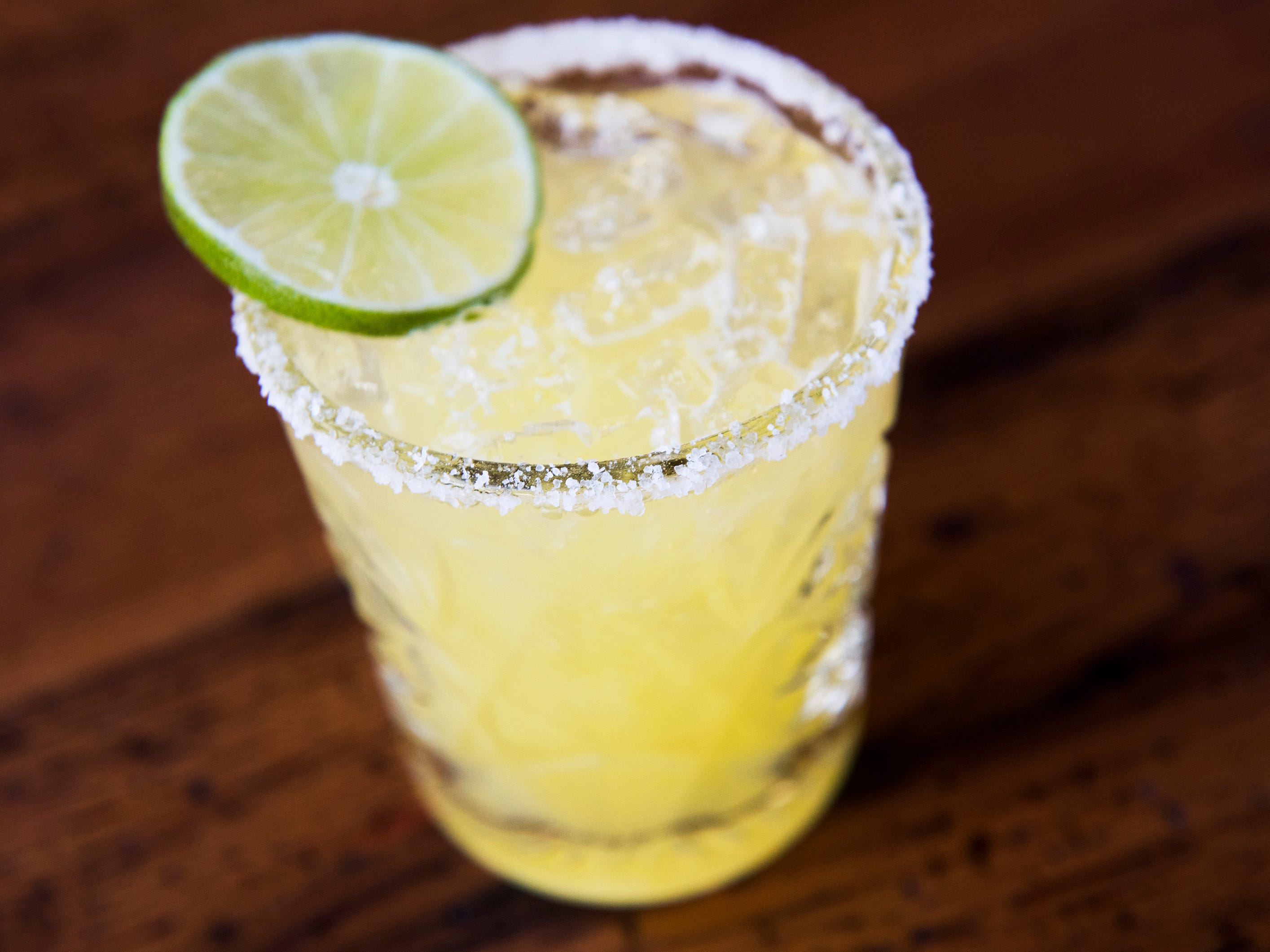 A Central margarita is displayed at Central Taco And Tequila in Westmont.