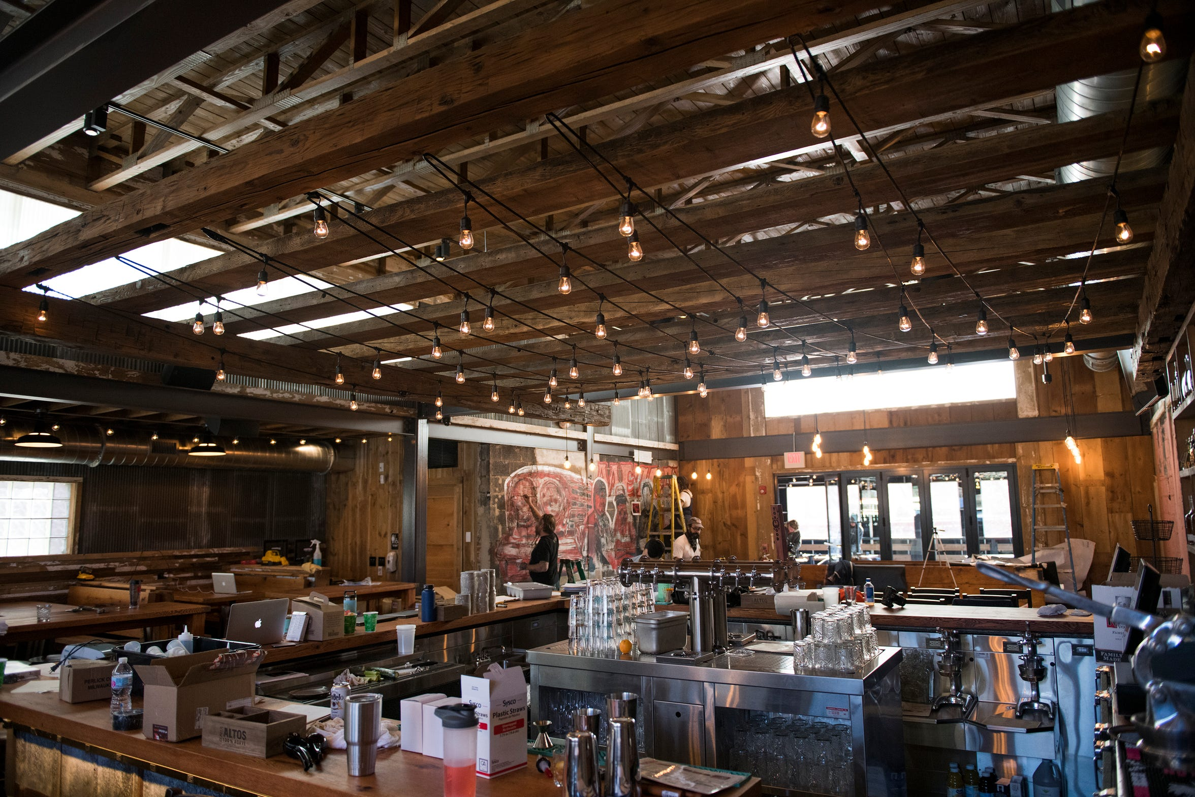 The final touches are put upon Central Taco and Tequila a week before the grand opening.
