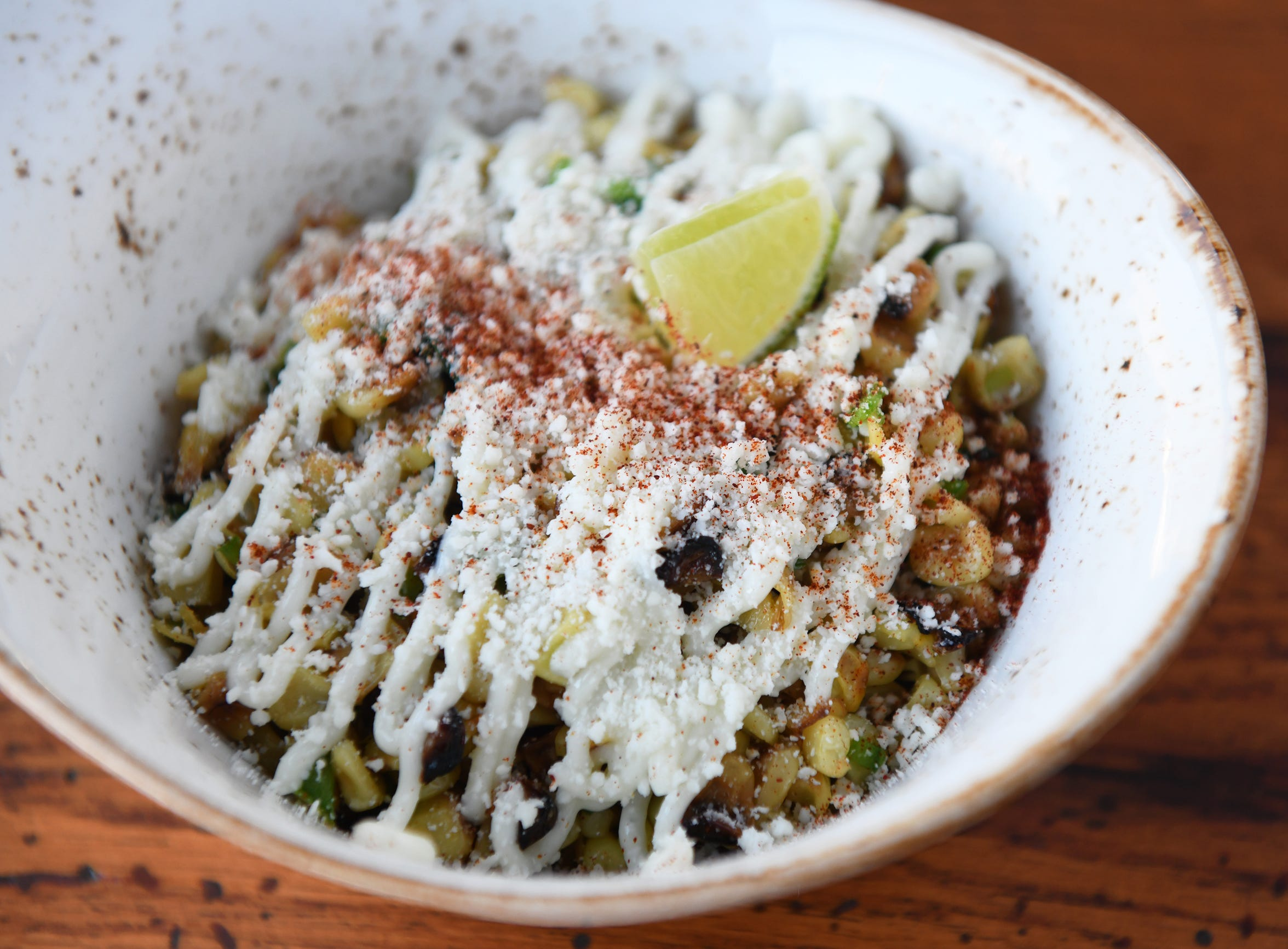 Mexican Street Corn is available as a starter or a side dish at Central Taco and Tequila.