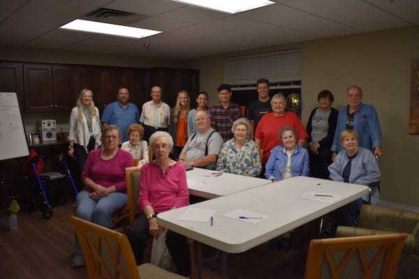 Throughout the fall semester, a group of APSU and MCHS students have visited Fieldstone Place every Thursday evening, where they teach residents the basics of the Spanish language.
