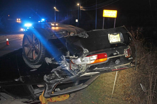 This 1992 Lexus crashed on Peachers Mill Road early Saturday morning, Dec. 8, 2018.