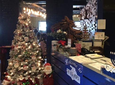 Celebrate the holidays at The Blue Horse in Highland Park.