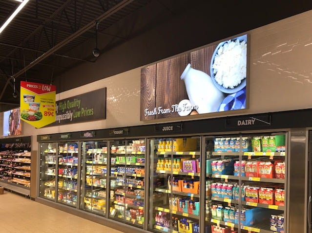 ALDI invested $35 million to renovate 29 New Jersey stores. Remodeled ALDI stores feature open ceilings, natural lighting and expanded refrigeration space for more fresh produce, dairy and meat.