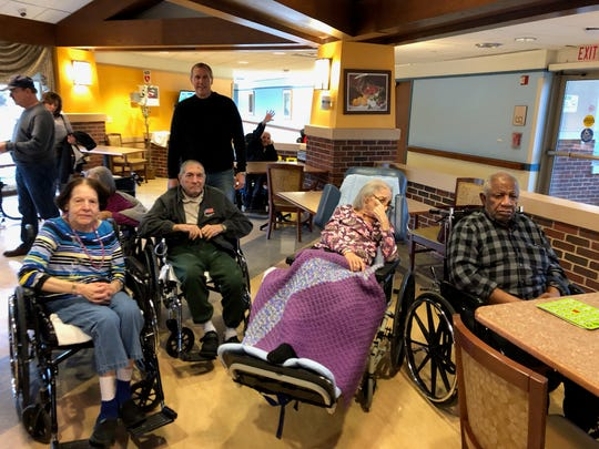 On Friday, Nov.30,AT&T employees andSouth Plainfield Knights of Columbus members went to the Menlo Park Veterans Home and supported the veterans.