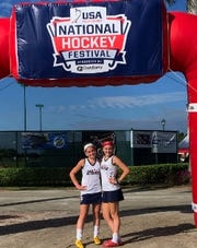 Polytech's Debbie Nalesnik and Brooke Hyland competed together on the NJ STARZ field hockey team in a national competition over the Thanksgiving holiday.