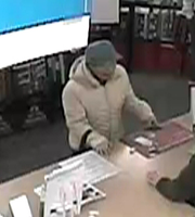 Helen Kim, in a surveillance photo from the CVS in Scotch Plains.
