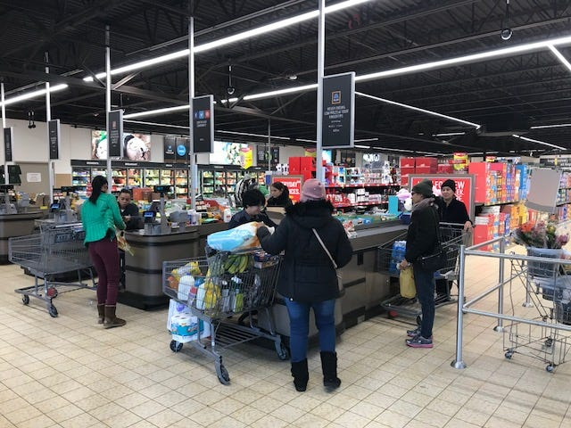 ALDI recently celebrated the reopening of the remodeled New Brunswick store.