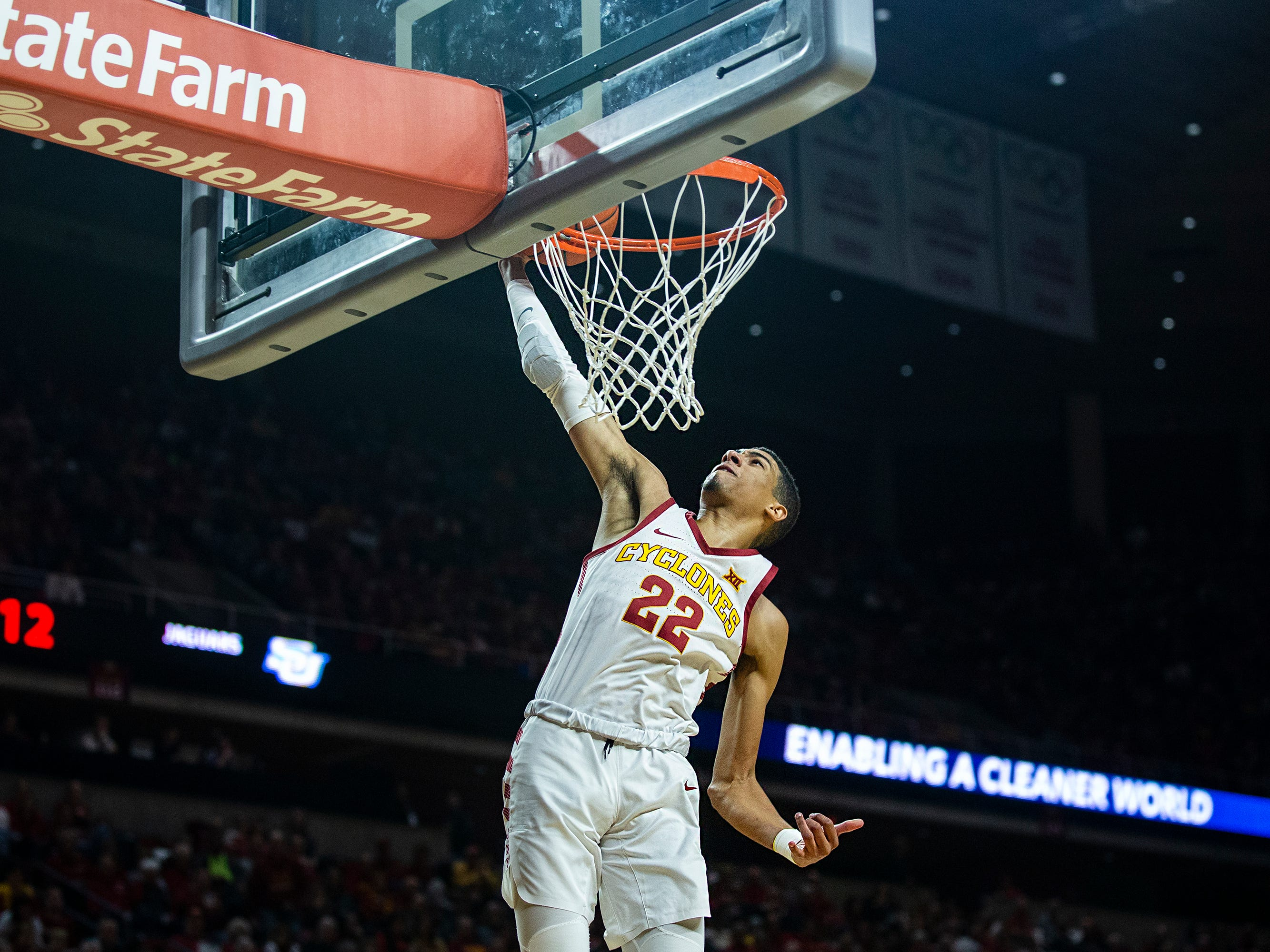 Iowa State's Tyrese Haliburton shoots the ball during the Iowa State men's basketball game against Southern on Sunday, Dec. 9, 2018, in Hilton Coliseum.