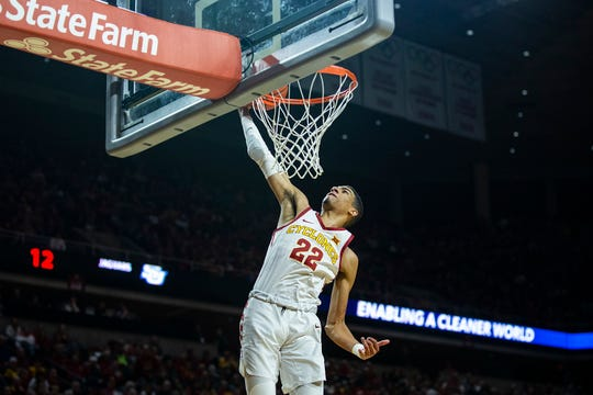 Iowa State's Tyrese Haliburton scores during a victory over Southern on Dec. 9. Haliburton broke Iowa State's single-game assist record during the game.