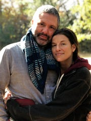 Carly Apple and her husband, Jonathan Frederick
