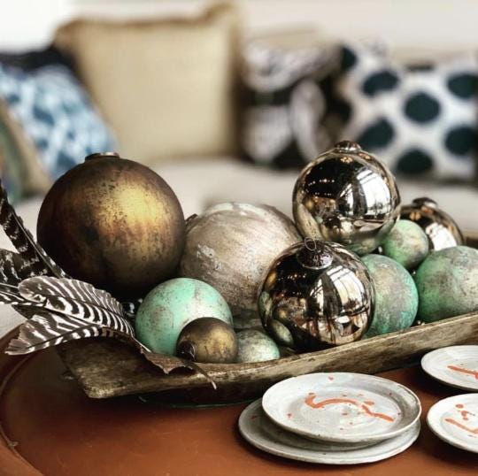 Cloth & Kind's new virtual store offers a range of home goods including ornaments for the holidays.