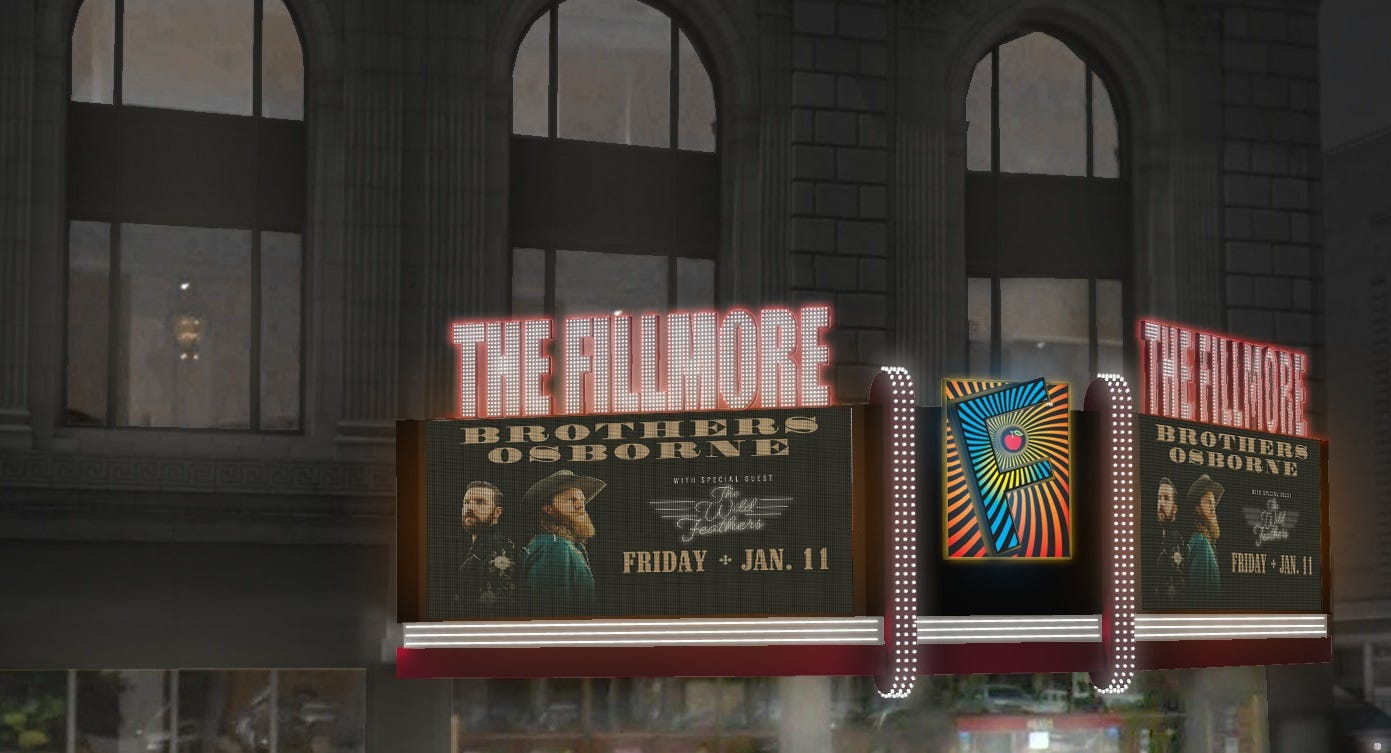 Fillmore Detroit Marquee Rendering
