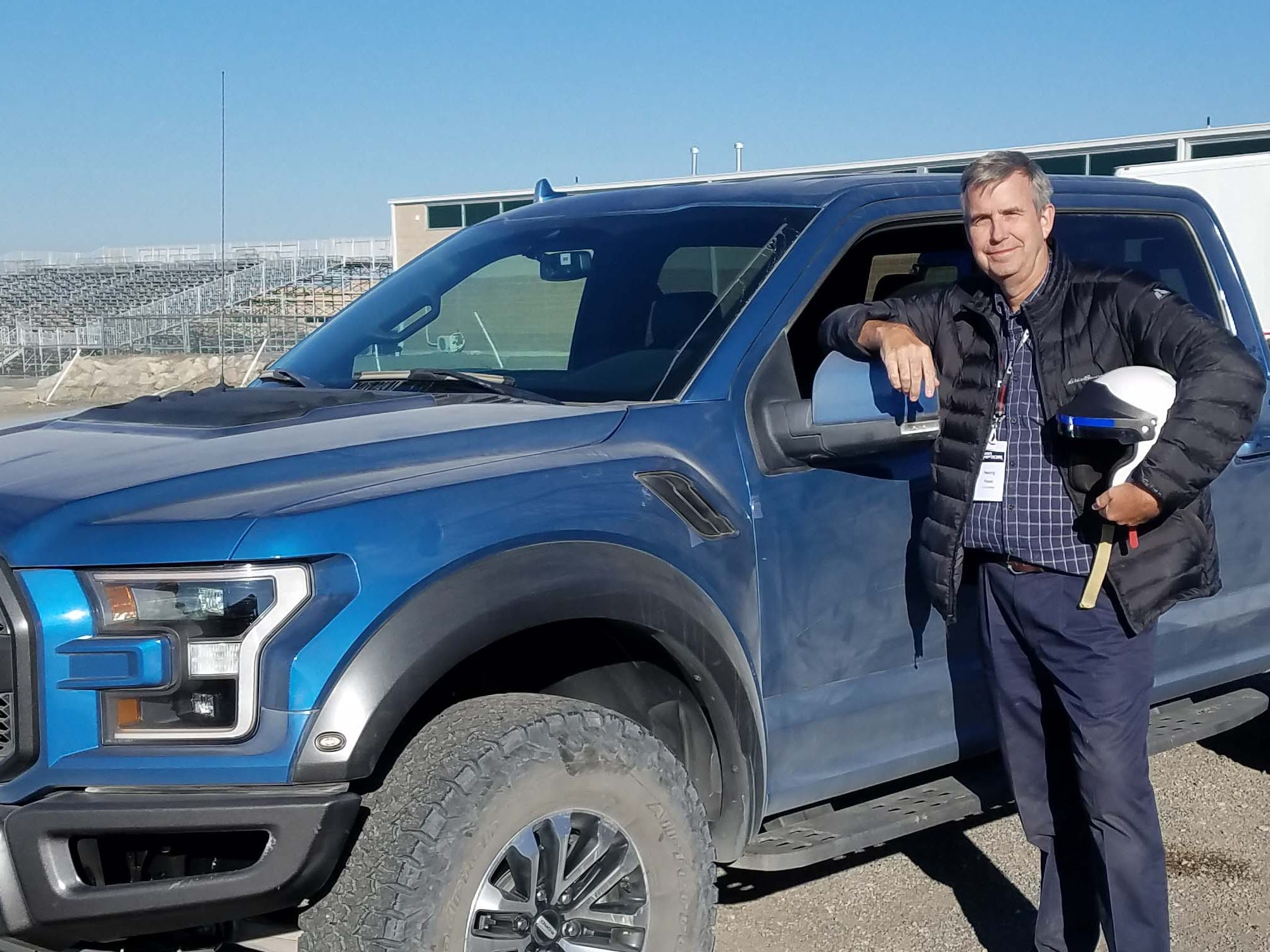 Detroit News auto critic Henry Payne strapped on a helmet and took the 2019 Ford F-150 Raptor flying over some 60  mph jumps in Utah.