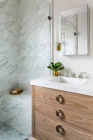 According to the new 2018 U.S. Houzz Bathroom Trends Study, one in 10 master bathrooms is the same size or larger than the master bedroom. And farmhouse style is growing in popularity.
