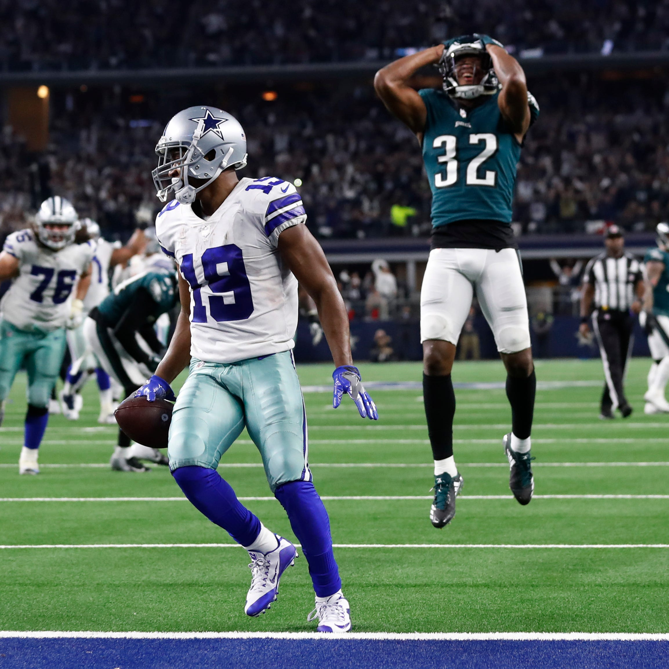 Sunday's NFL: Cowboys clip Eagles in OT, widen NFC East lead