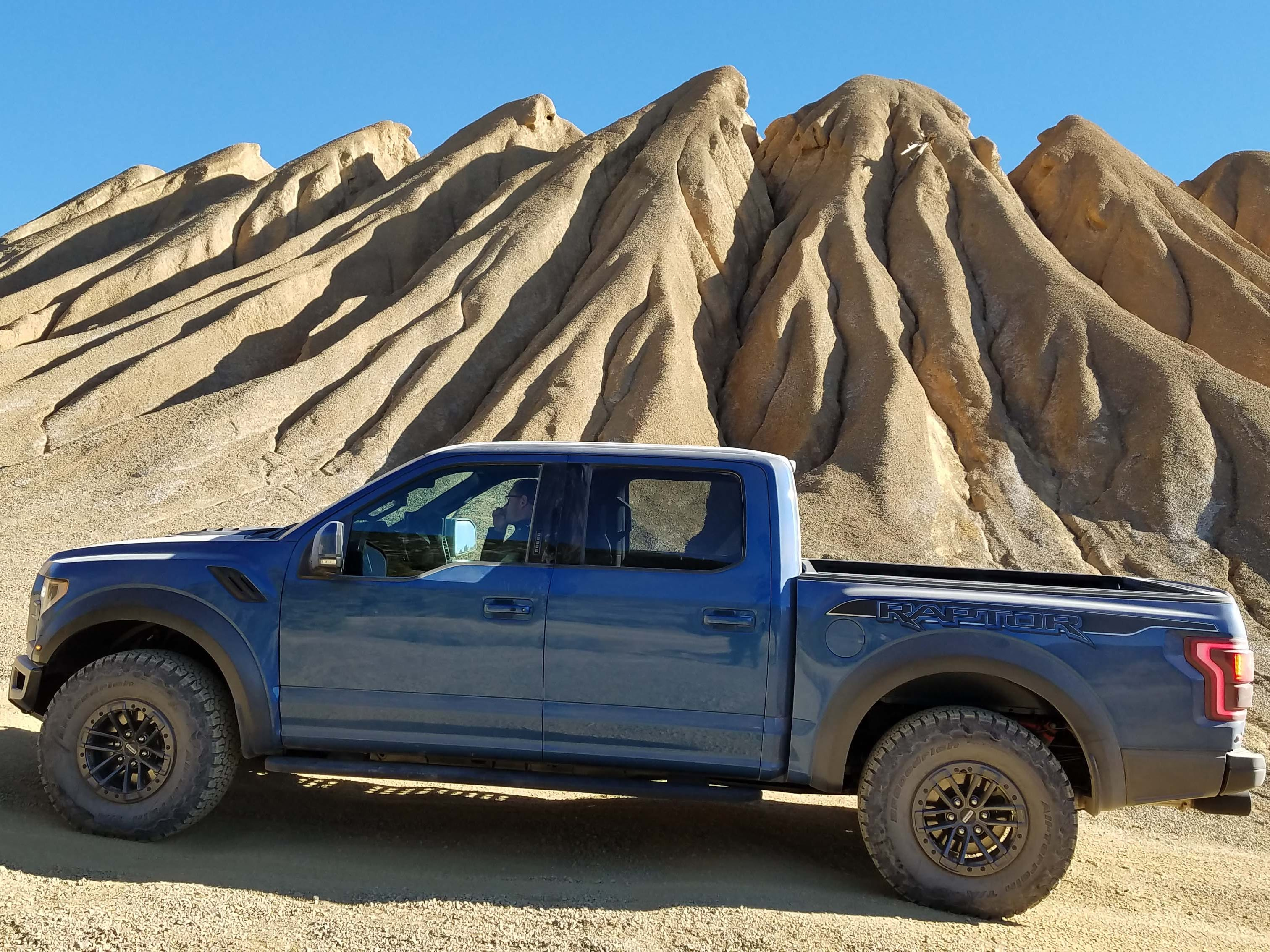 Let's go exploring. The 2019 Ford F-150 Raptor in its natural habitat — miles from anywhere.