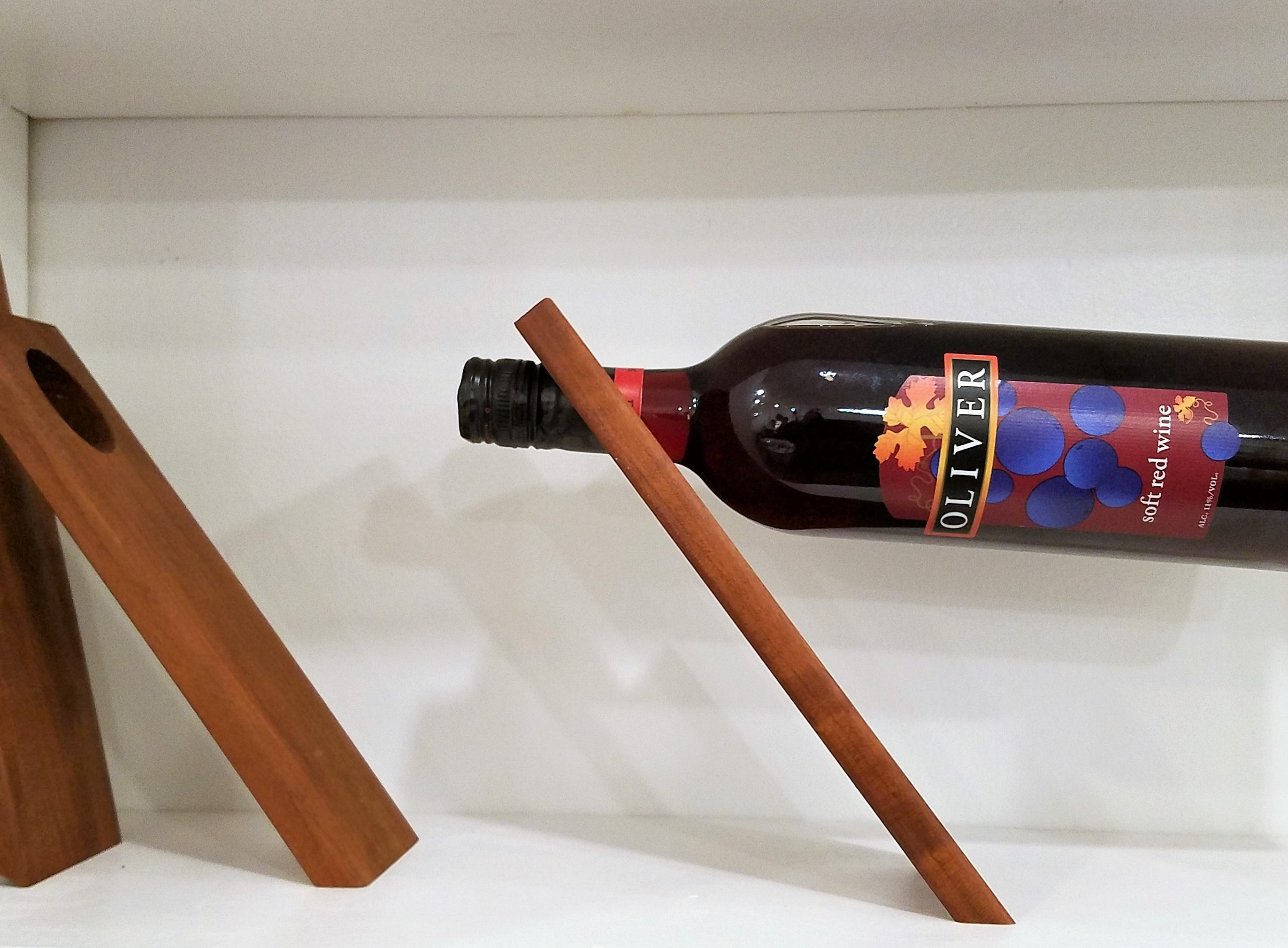 River City Coffee + Goods, wine bottle holder by Dickinson Kitchenware.