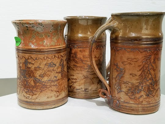 Arts Council of Southwestern Indiana, Viking mugs by David Rodenberg.