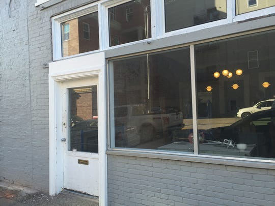 The front door at 12 NW 3rd St., the planned future home of Parlor Coffee and Doughnuts.