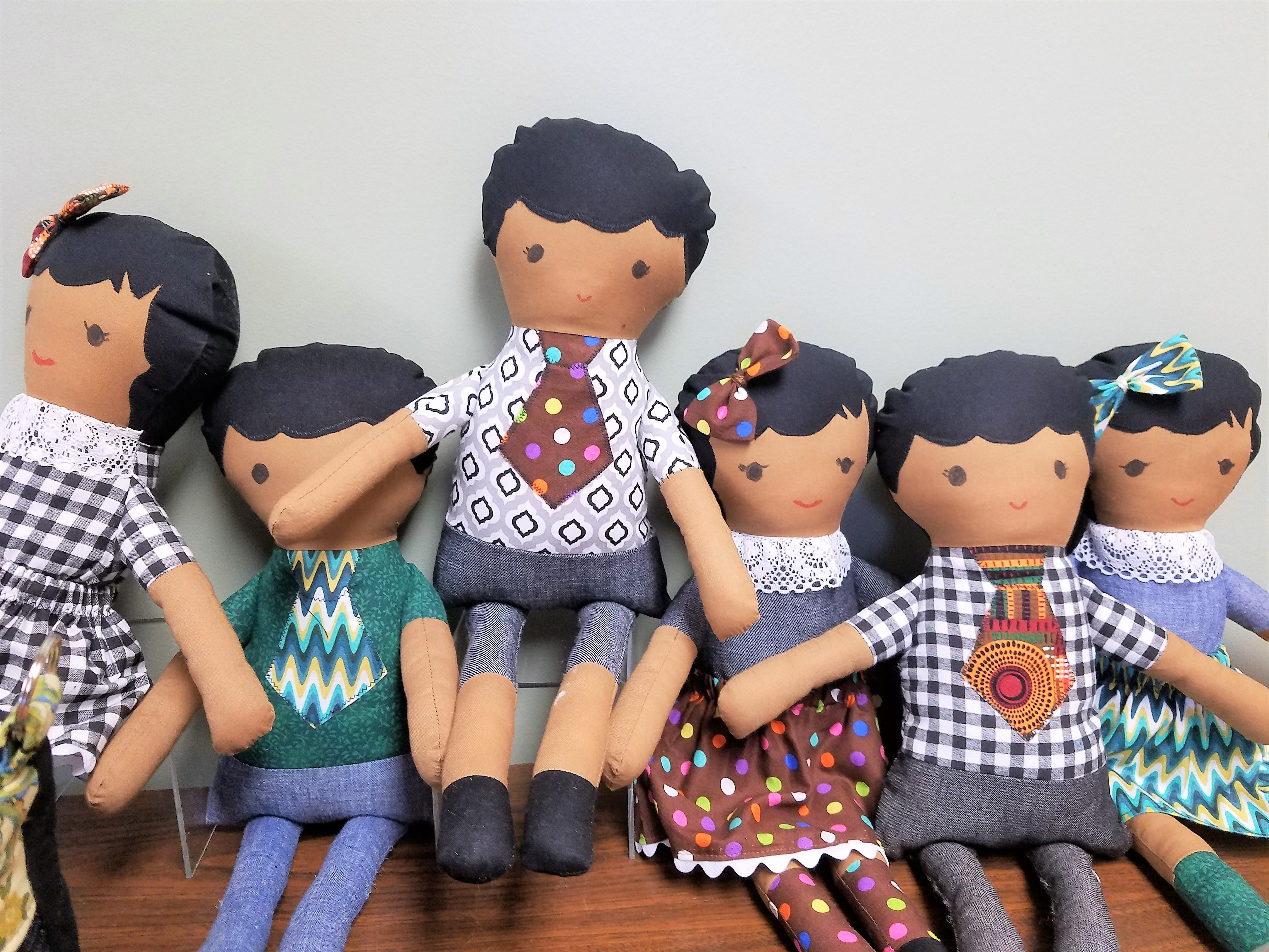 Evansville African American Museum, hand-sewn cloth dolls.