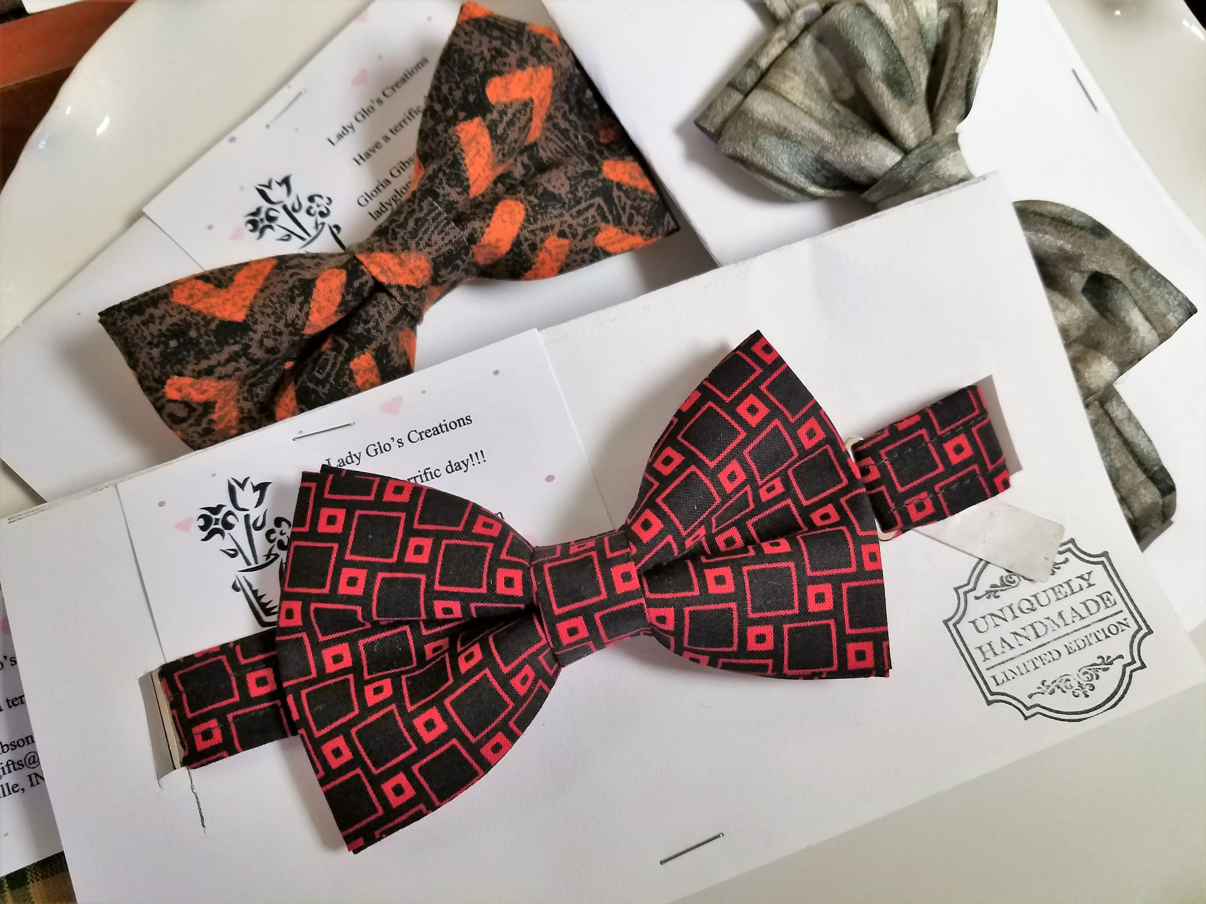 African American Museum, bow ties by Lady Glo's Creations.