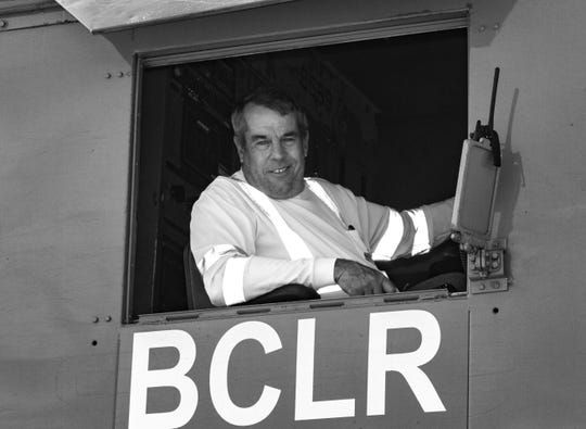 "Seminole Gulf Railway  train engineer Robert ""Bob"" Kyle wrote the new novel ""The Hogger."""