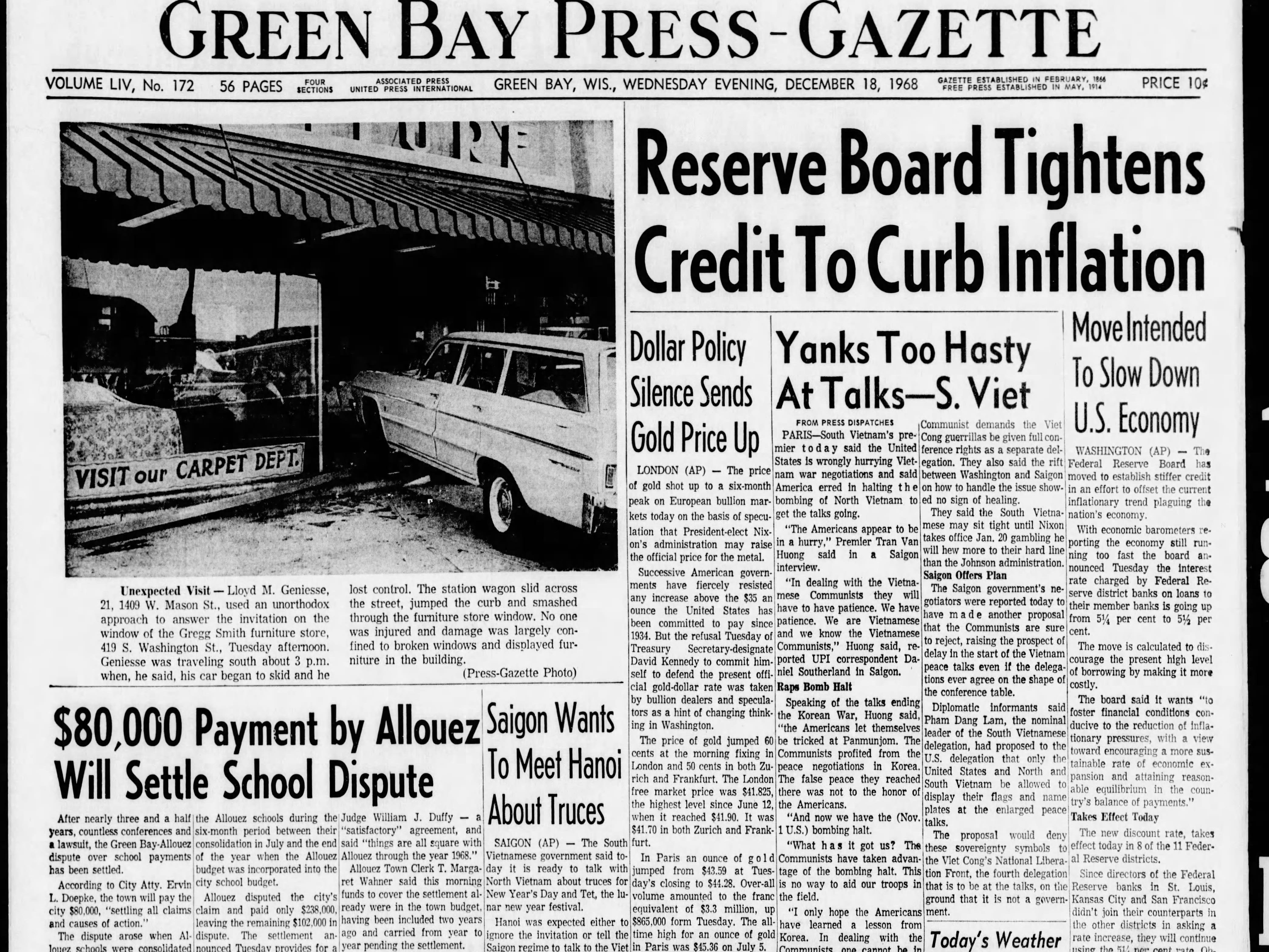 Today in History: Dec. 18, 1968