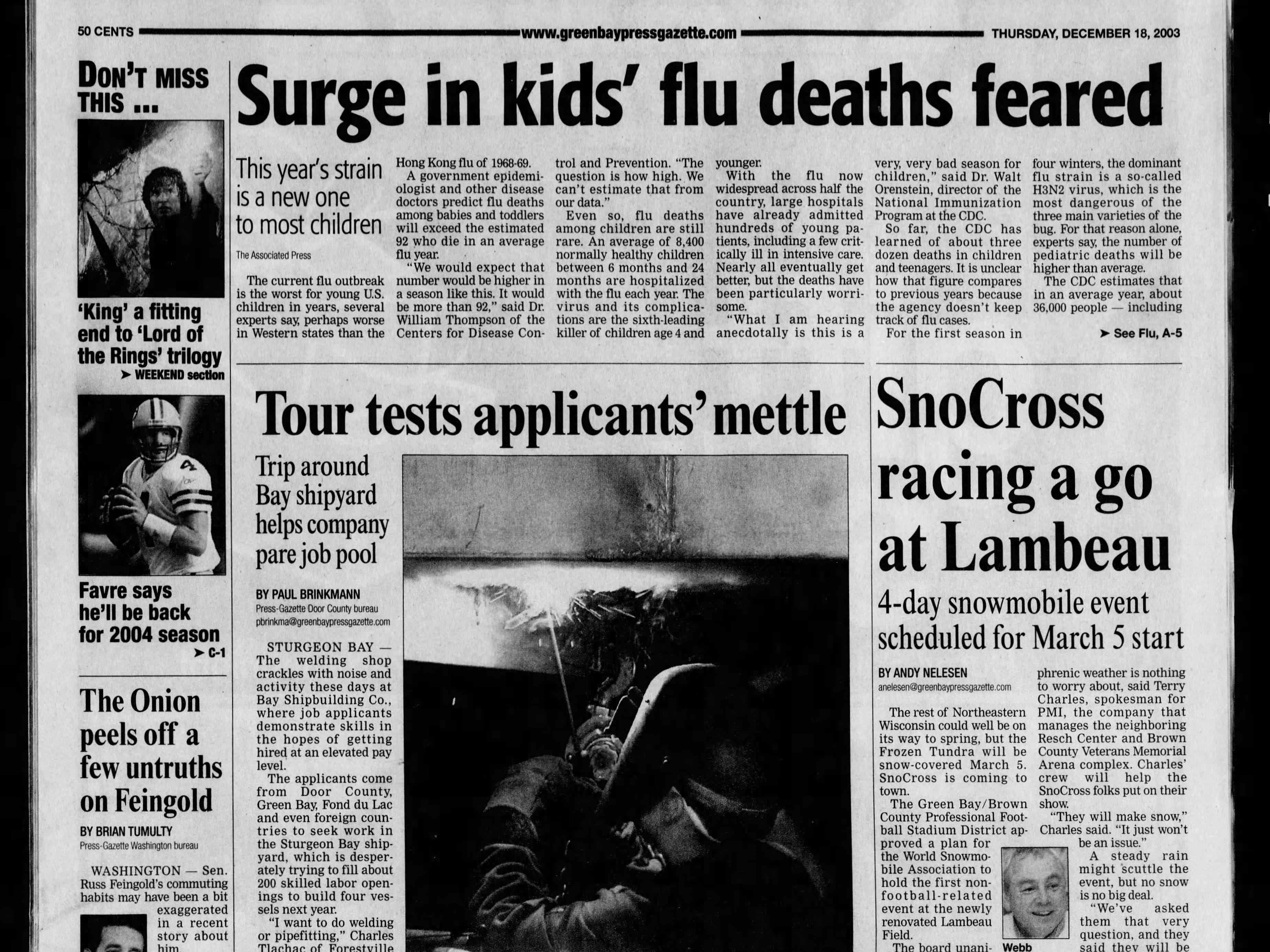 Today in History: Dec. 18, 2003