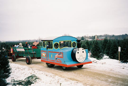 The express train ride at Whispering Pines Tree Farm in Oconto.