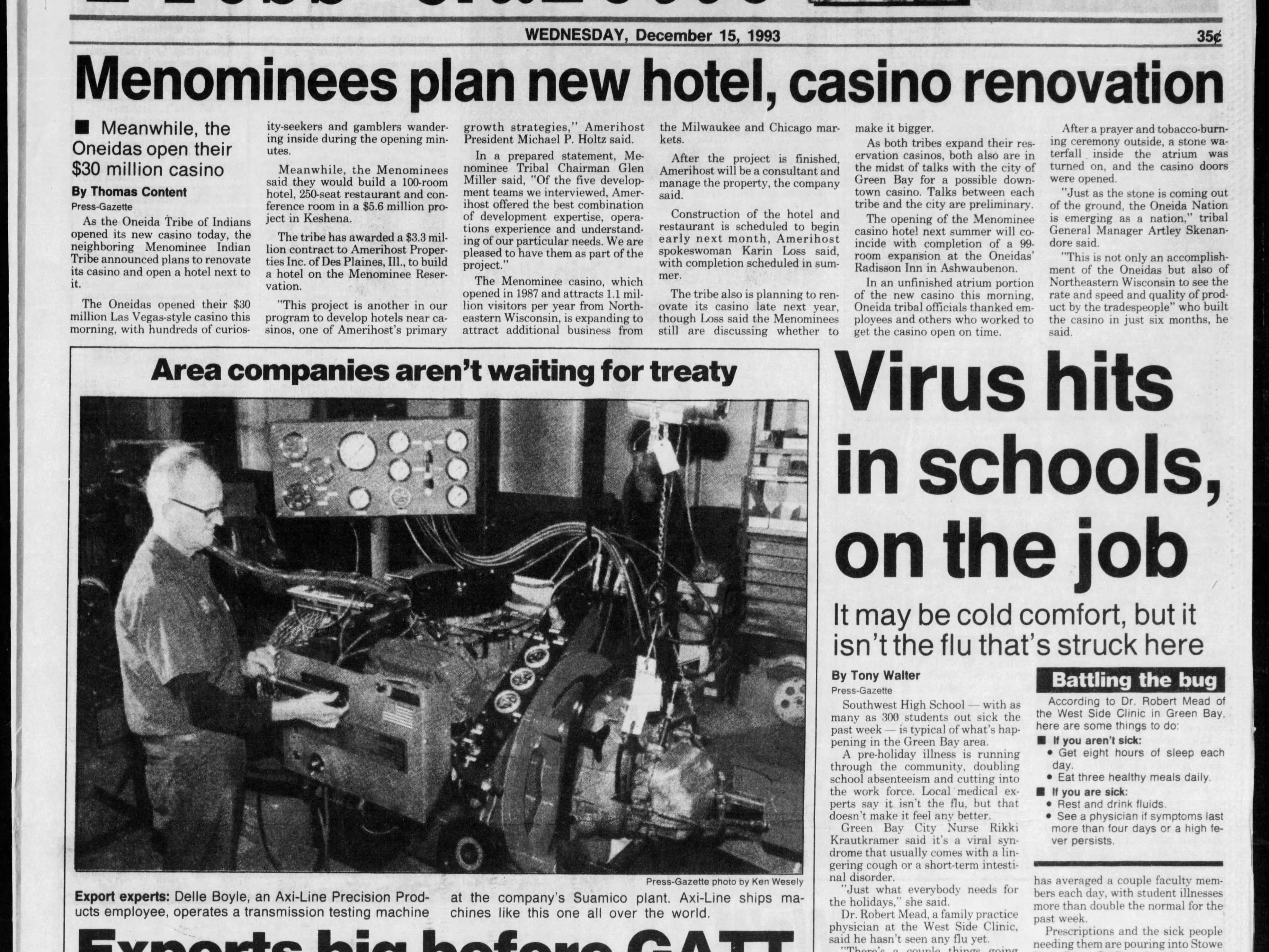 Today in History: Dec. 15, 1993
