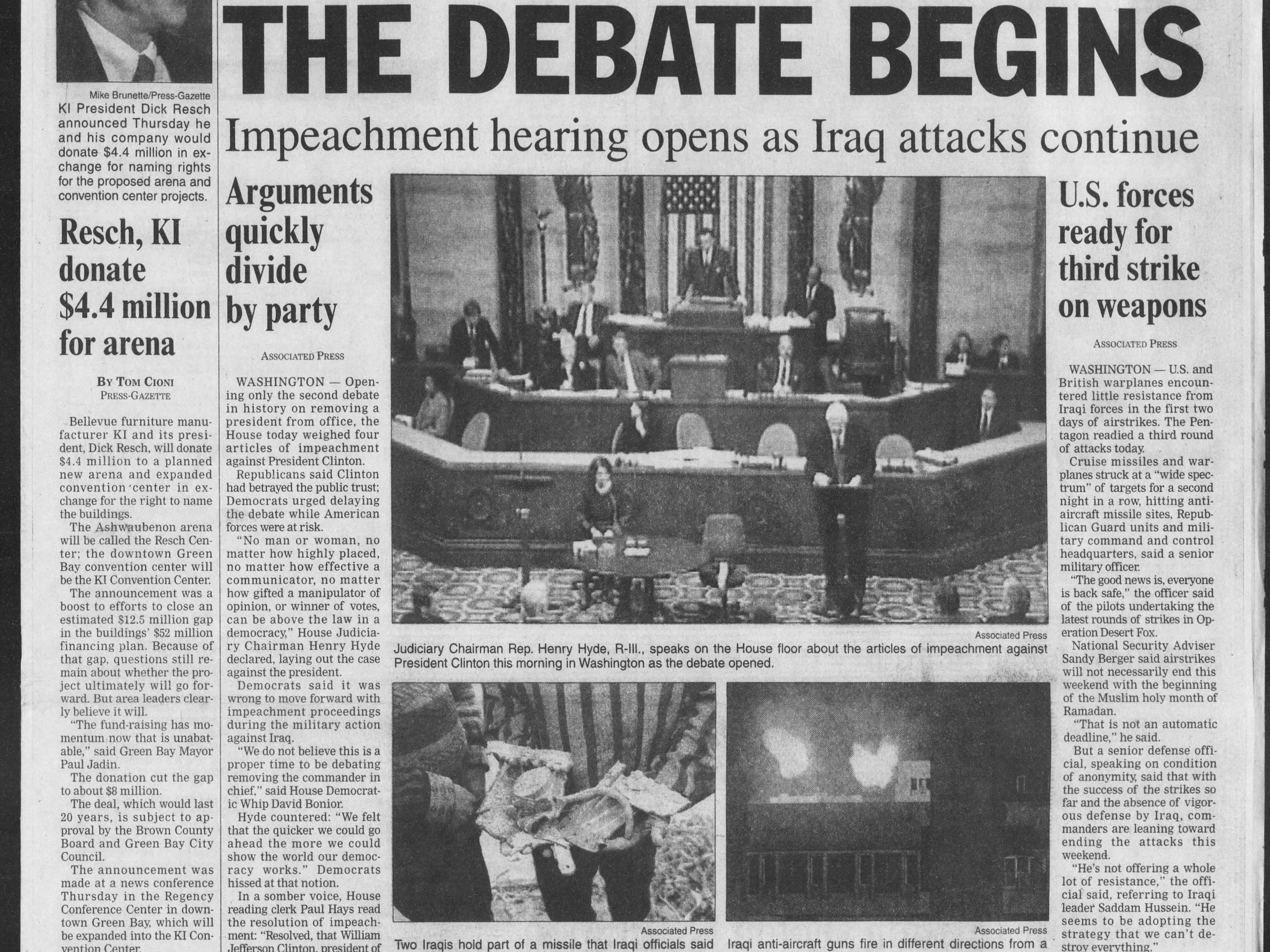 Today in History: Dec. 18, 1998