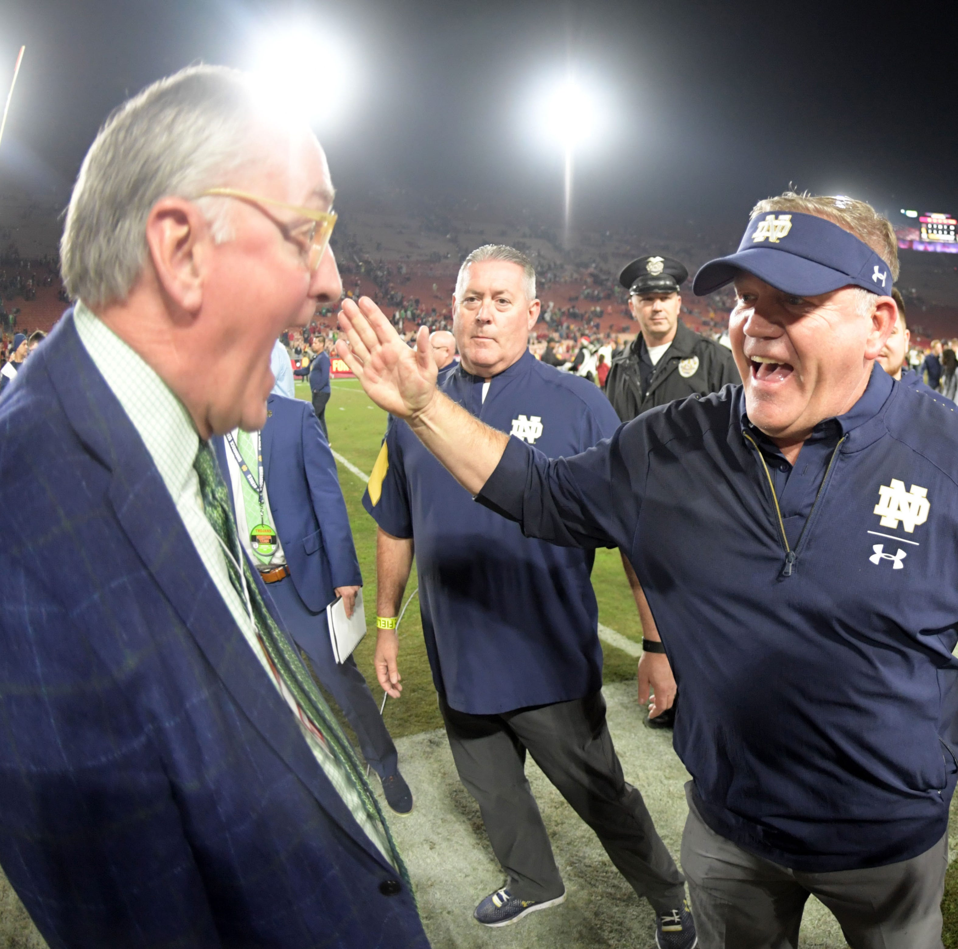 Notre Dame coach Brian Kelly relishing role as College Football Playoff novice