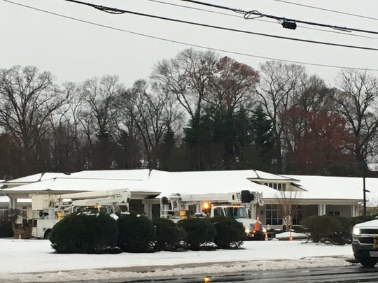 Power crews working on Pelham Road near Greenville Place assisted living home
