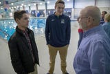 Bob Lee had a heart attack in the Benjamin Harrison YMCA pool last June and recently gave thanks to the lifeguards who saved him.