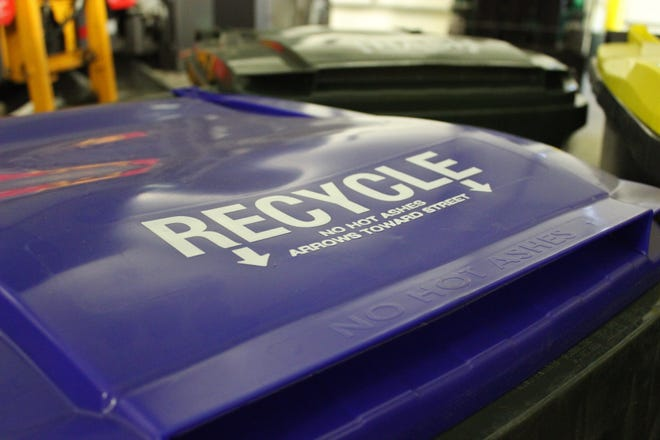 Iowa City has begun rolling out its new 65-gallon recycling bins.
