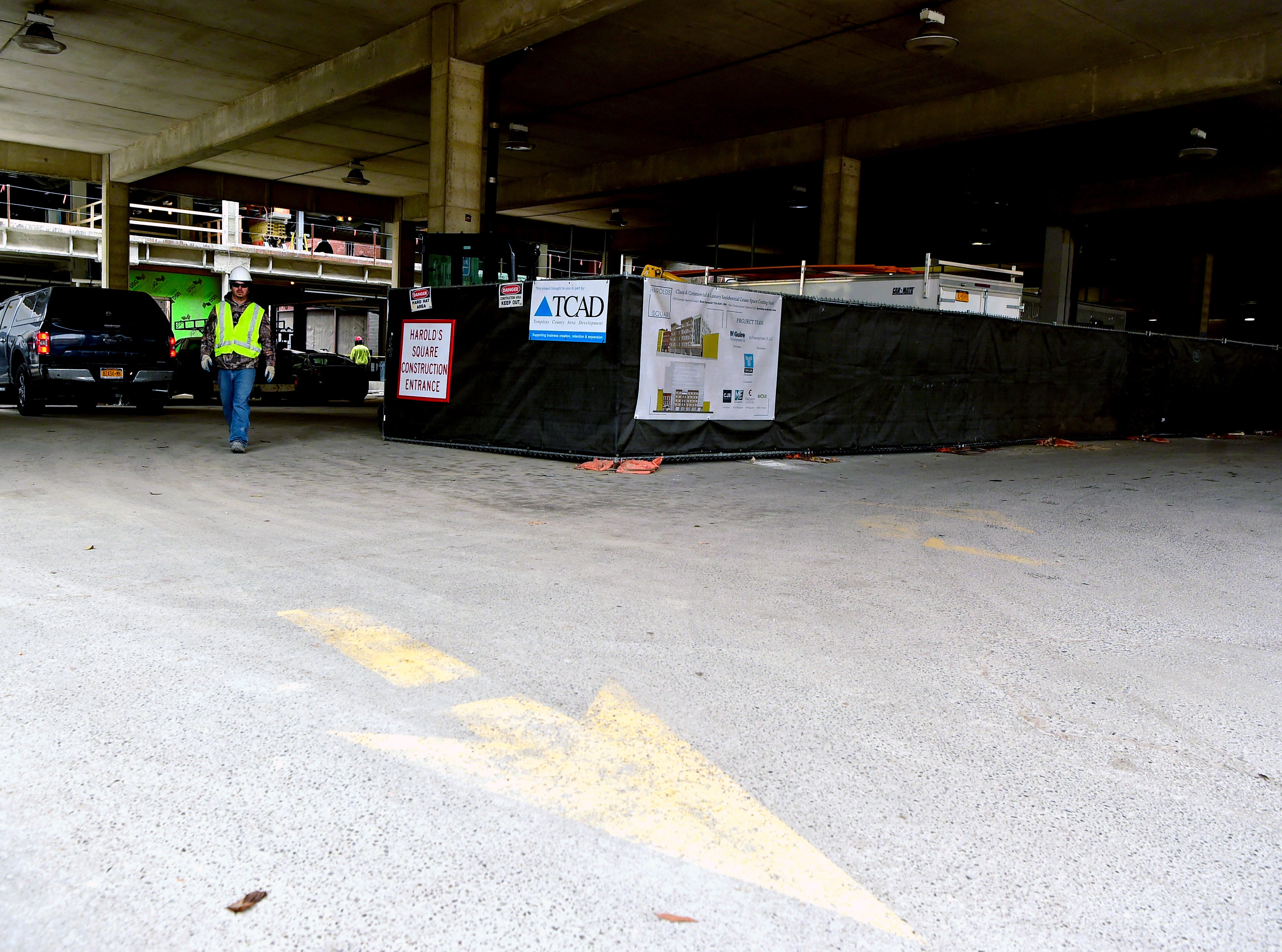 The first level of the Green Street Garage in downtown Ithaca. December 10, 2018.