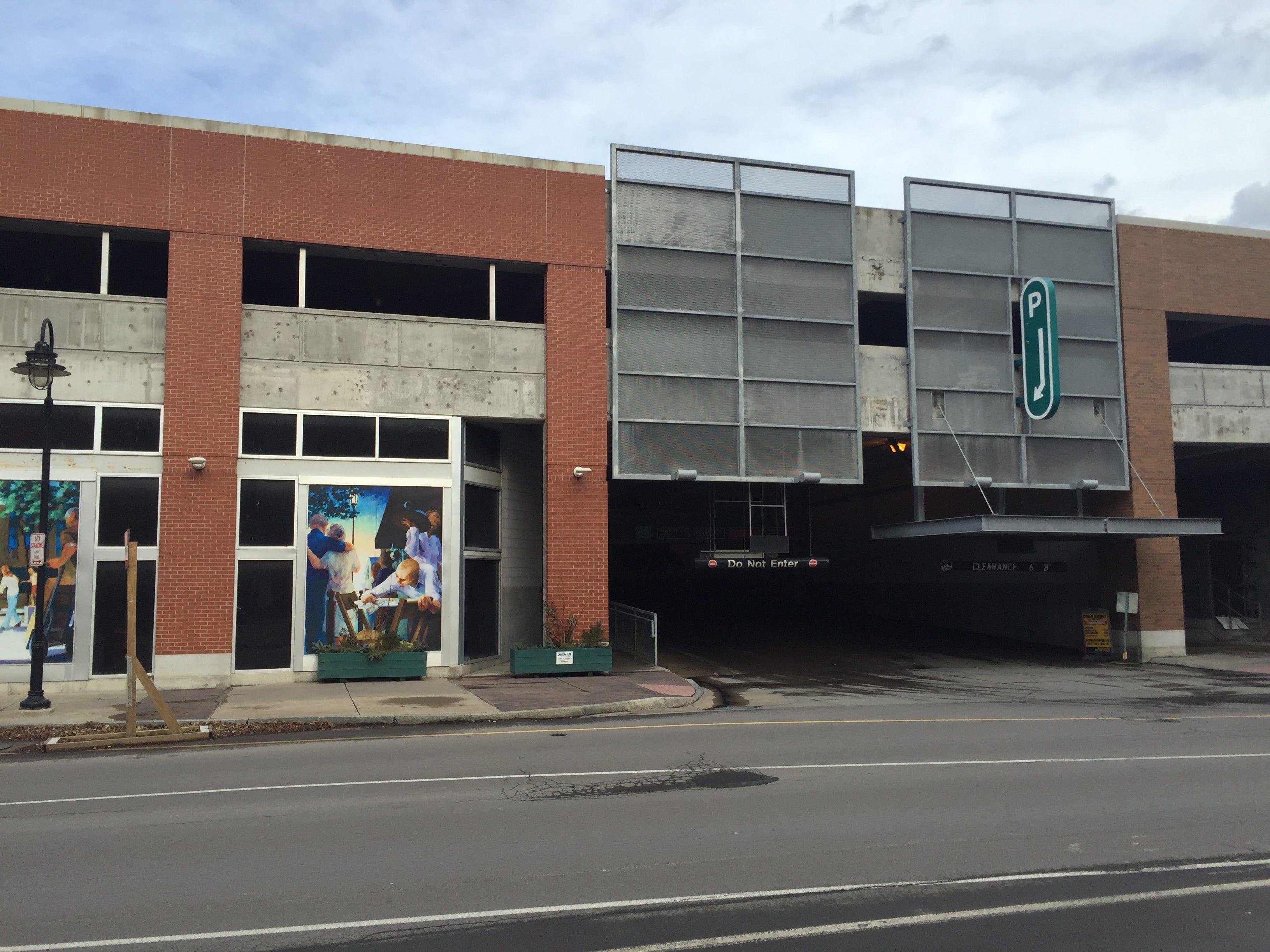 The Green Street Parking Garage, at 120 E. Green St.